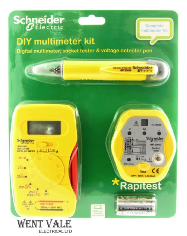 Schneider Electric IMT23011 - Three Piece DIY Multimeter Kit.
